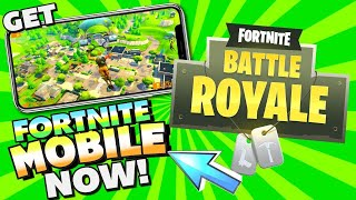 How get FORTNITE MOBILE Game Now! Download Link on iPhone, iPad, iPod Touch