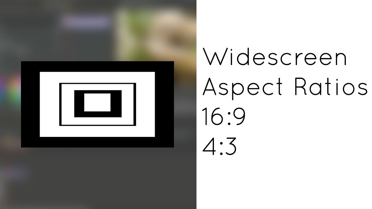 Tamaño y Proporciones de Video: Widescreen, 16:9, 4:3, y Aspect ...