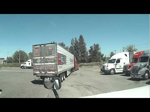 How not to exit the truckstop Massive failure  this driver