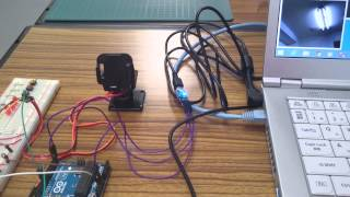 Arduino + Servo(SG90) + WEB Camera + OpenCV