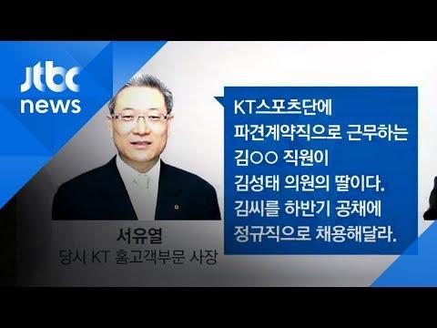 """김성태 딸, 어떻게 정규직에?…""""KT 사장이 '그냥 올려 태워라' 지시"""""""
