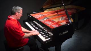 """""""Staccato Beans"""" by Tan Dun - P. Barton FEURICH Harmonic Pedal Piano"""