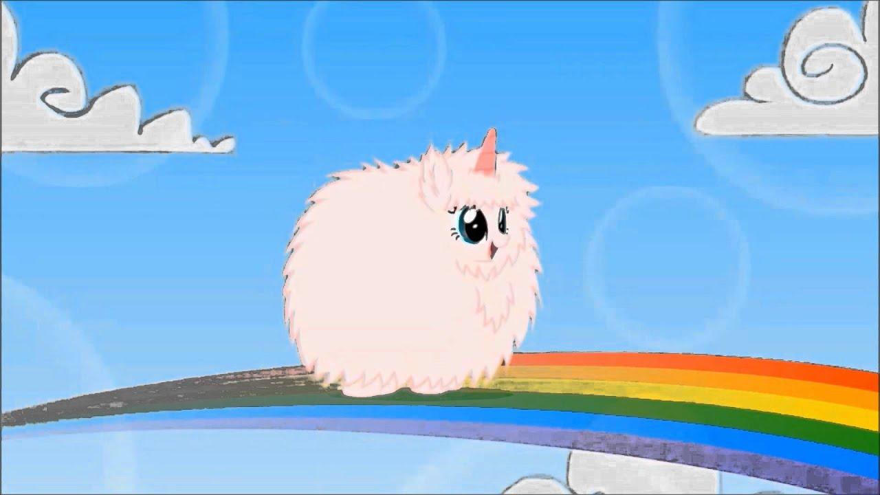 pink fluffy unicorns on rainbows fandub pl