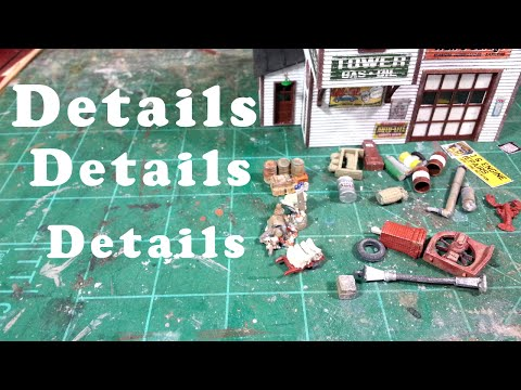 Model Railroad Structure Details – Detailing Tower Gas – 01