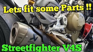 Ducati Streetfighter V4S - Rizoma Rearsets , Tail Tidy , Heated Grips and more