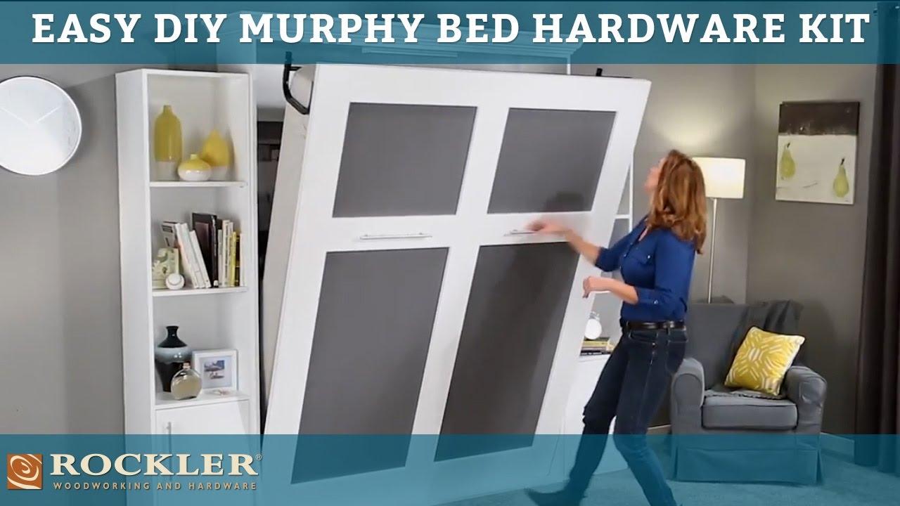 easier than ever diy murphy bed hardware kit [ 1280 x 720 Pixel ]