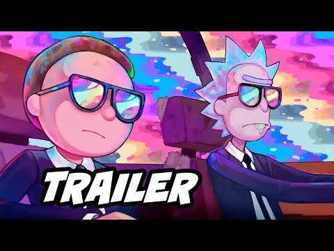 """Rick and Morty Run The Jewels Music Video Trailer """"Oh Mama"""" Easter Eggs"""