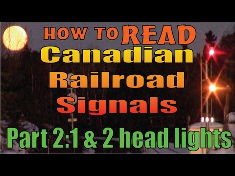 Railroad Signals, part 2: 1 and 2 head systems - reading and meanings