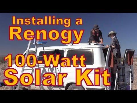 Installing a  Renogy 100 Watt Solar kit