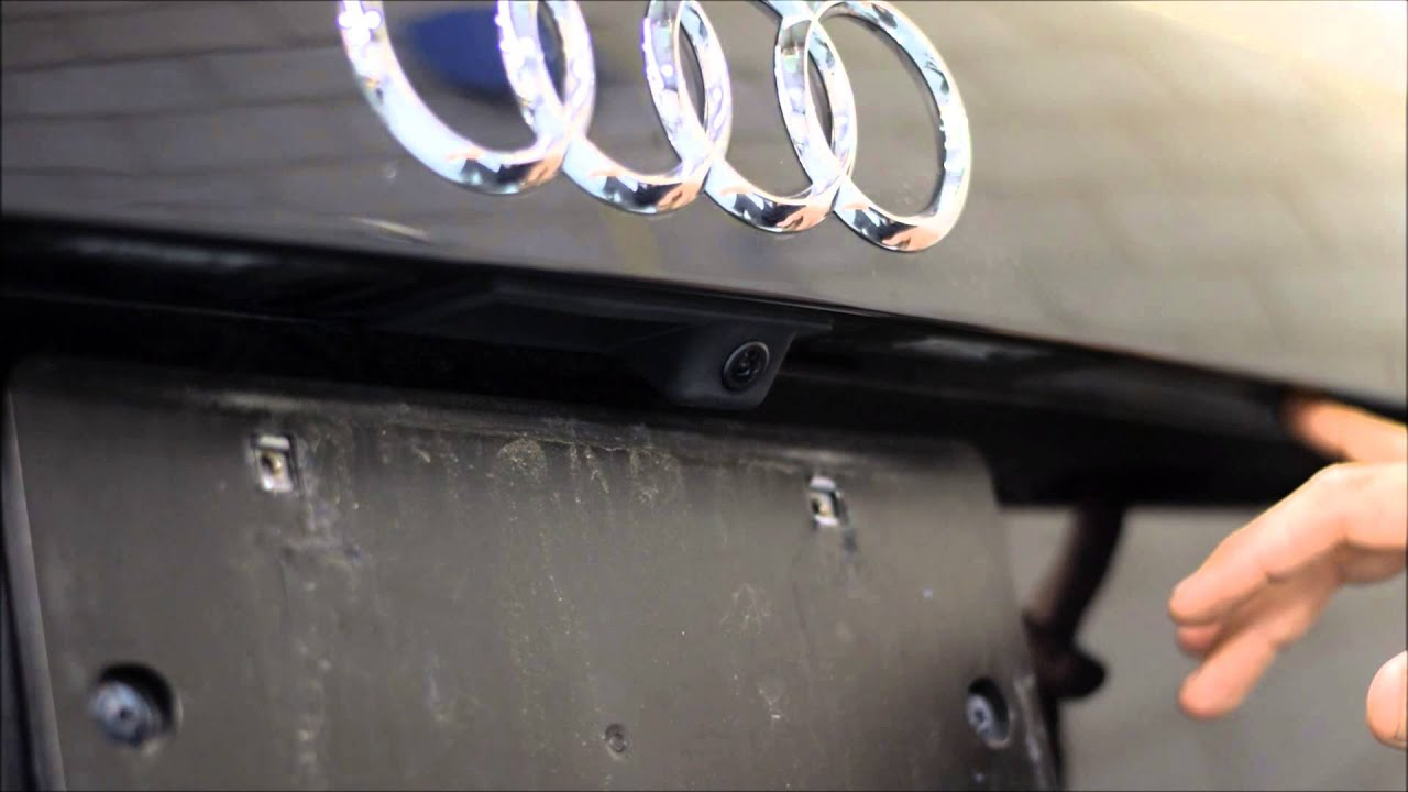 audi  backup camera installation  factory screen
