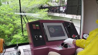 上野動物園モノレール40形 運転台