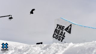 TOP QUALIFIER: The Real Cost Men's Snowboard Big Air Elimination | X Games Aspen 2020