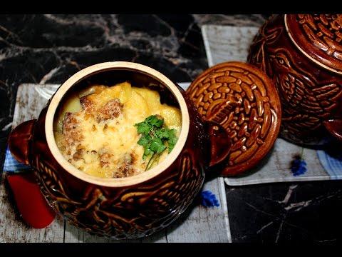 Драники с мясом в горшочках пошаговый рецепт с фото