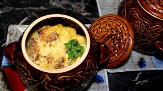 Картошка в горшочках. Пошаговое приготовление