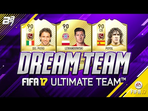 MY FIFA 17 DREAM TEAM! w/ DEL PIERO AND PUYOL!