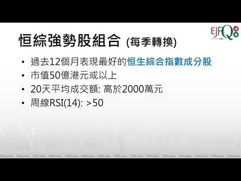 實戰教室: 第二季恒綜強勢股策略初步篩選 2020年3月25日