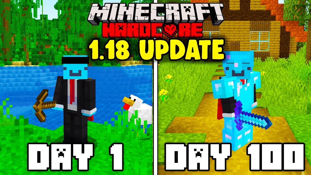 I survived 100 Days in 1.18 Minecraft Hardcore... Here's What Happened!