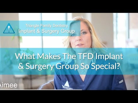 Dental Implant Dentist North Carolina - CRNA Aimee Discusses The TFD Implant & Surgery Group