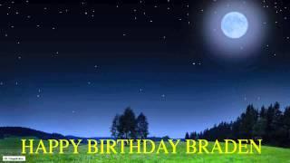 Braden  Moon La Luna - Happy Birthday