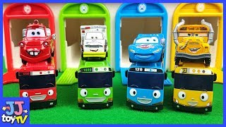 Little Bus Tayo And Disney Cars Lingtning Mcqeen Play Magic Track Toys [Jjtoy Tv]