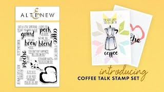 Altenew Stamps Intro - Coffee Talk