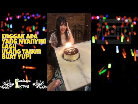 Yupi JKT48 Enggak Ada Yang Nyanyiin Lagu Ulang Tahun