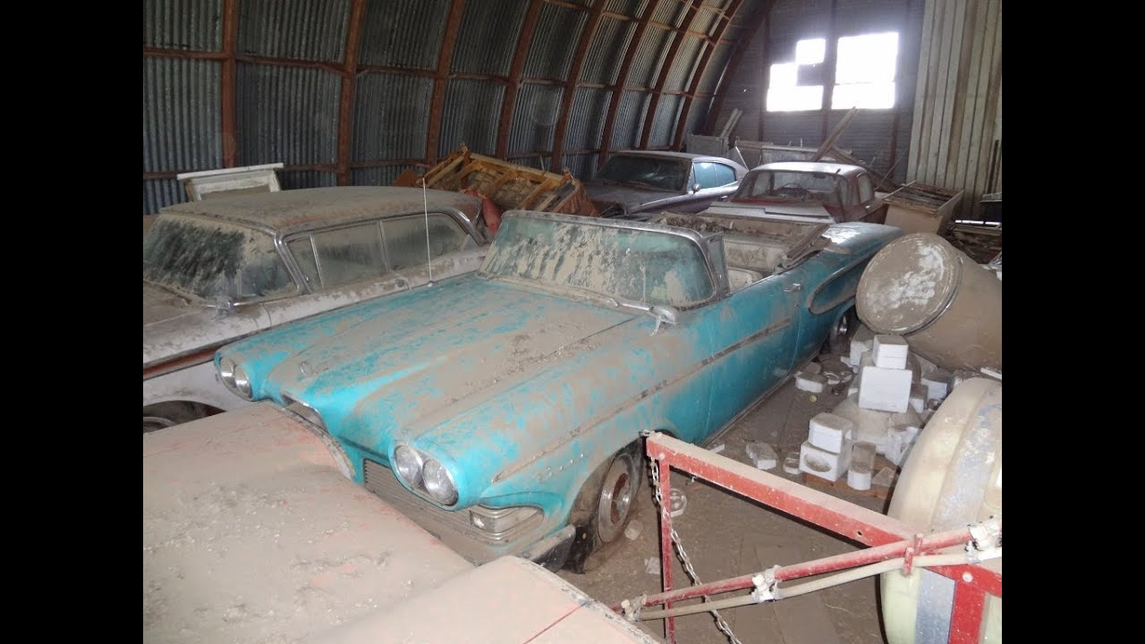 AMAZING Edsel Barn Find, Rare Cars Parked and Left. 1958 Pacer ...