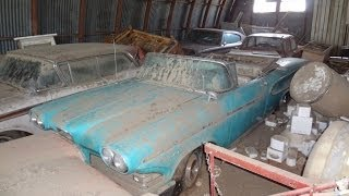 AMAZING Edsel Barn Find, Rare Cars Parked and Left. 1958 Pacer Convertible, Rangers, Dodge Charger