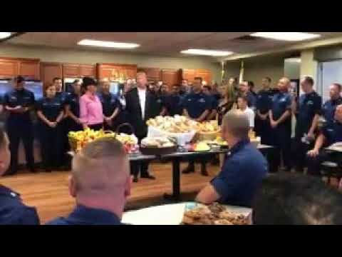 Thumbnail: President Trump thanks Coast Guard for work during hurricanes this year