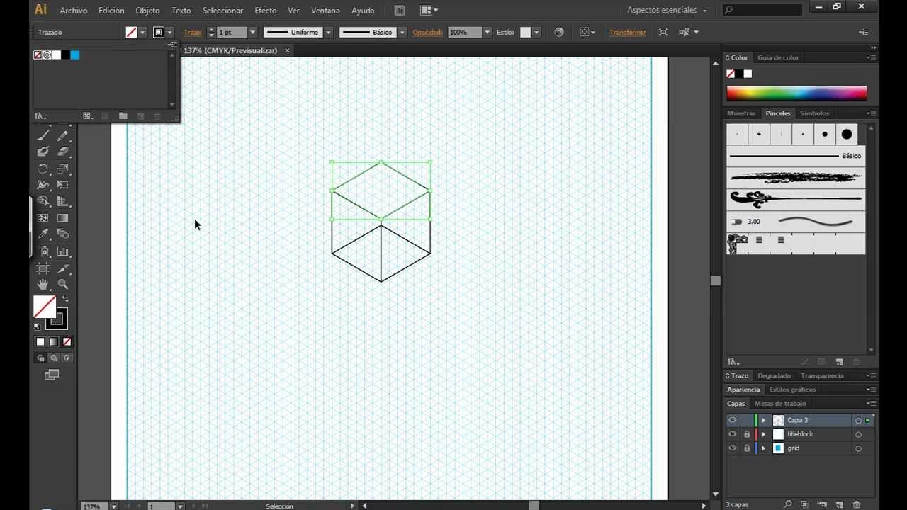 cuadricula isometrica en illustrator (descarga).mov - YouTube