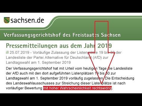 Zurücktreten Landeswahlausschuss Sachsen!! Eil-Urteil: