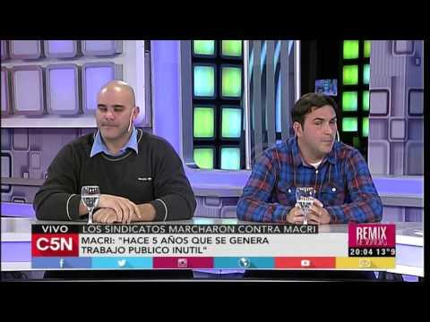 C5N - Remix de Noticias: El debate por los sindicatos