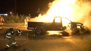 Houston South Loop Fiery Crash