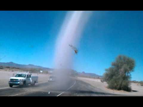 Desert tornado (dirt or dust devil) in the Mojave. - YouTubeDust Devil Tornadoes