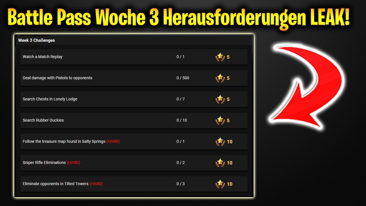 Fortnite season 3 battle pass herausforderung