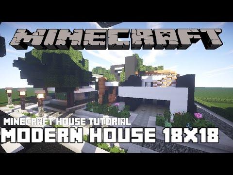 Minecraft House TutorialModern House18x18 PlotPart 1 YouTube