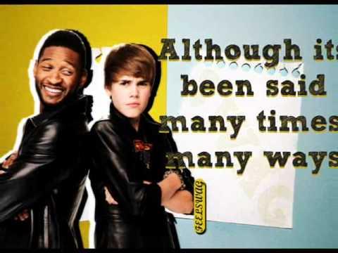 Justin Bieber feat. Usher - The Christmas Song (Lyrics video + Letra español)