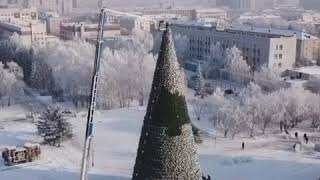 Украшение елки на Сахарова