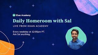 Sal answers questions from parents, teachers, and students about using khan academy for remote learning during school closures.for more information visit: ht...