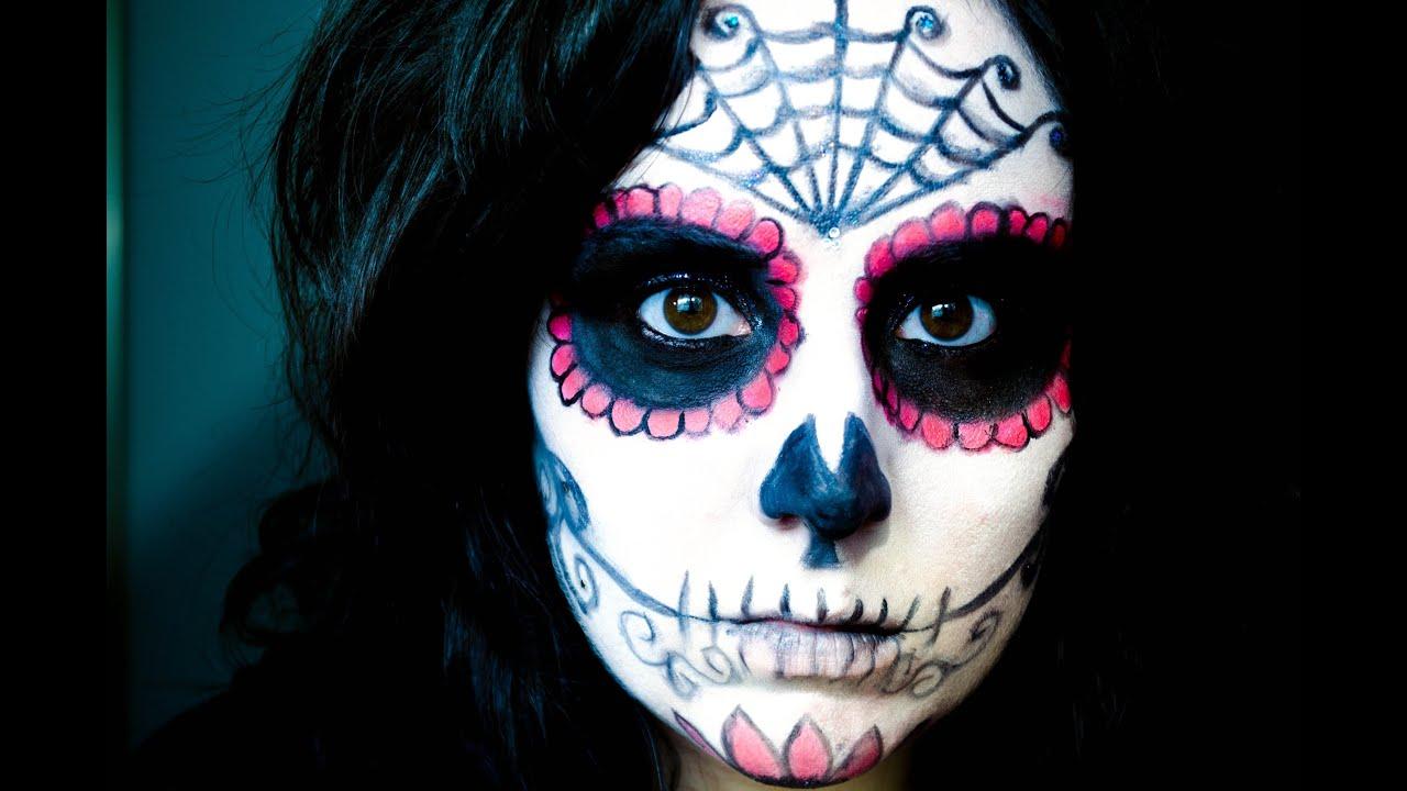 Halloween Sugar Skull Makeup Youtube