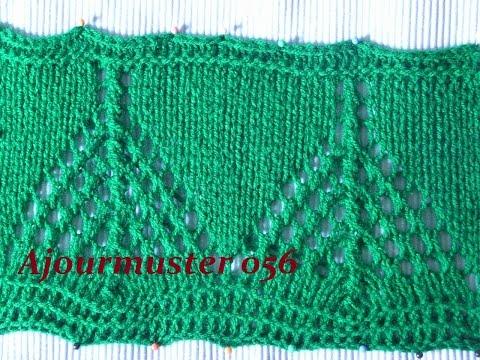 Ajourmuster 056*Stricken lernen*Muster für Pullover*Mütze*Kreativ