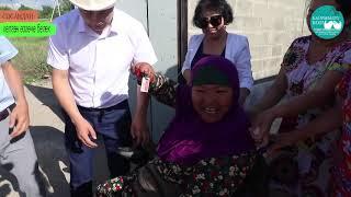 ТЕЗ КӨРГҮЛӨ! Кореядан Кыргызстанда жок авто унаа келип майып энеге берилди