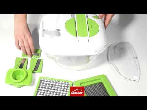 Mandolina de cocina, centrifugadora de verduras, cortador multifunción Lacor