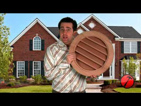 Round Gable Vent Louver Youtube