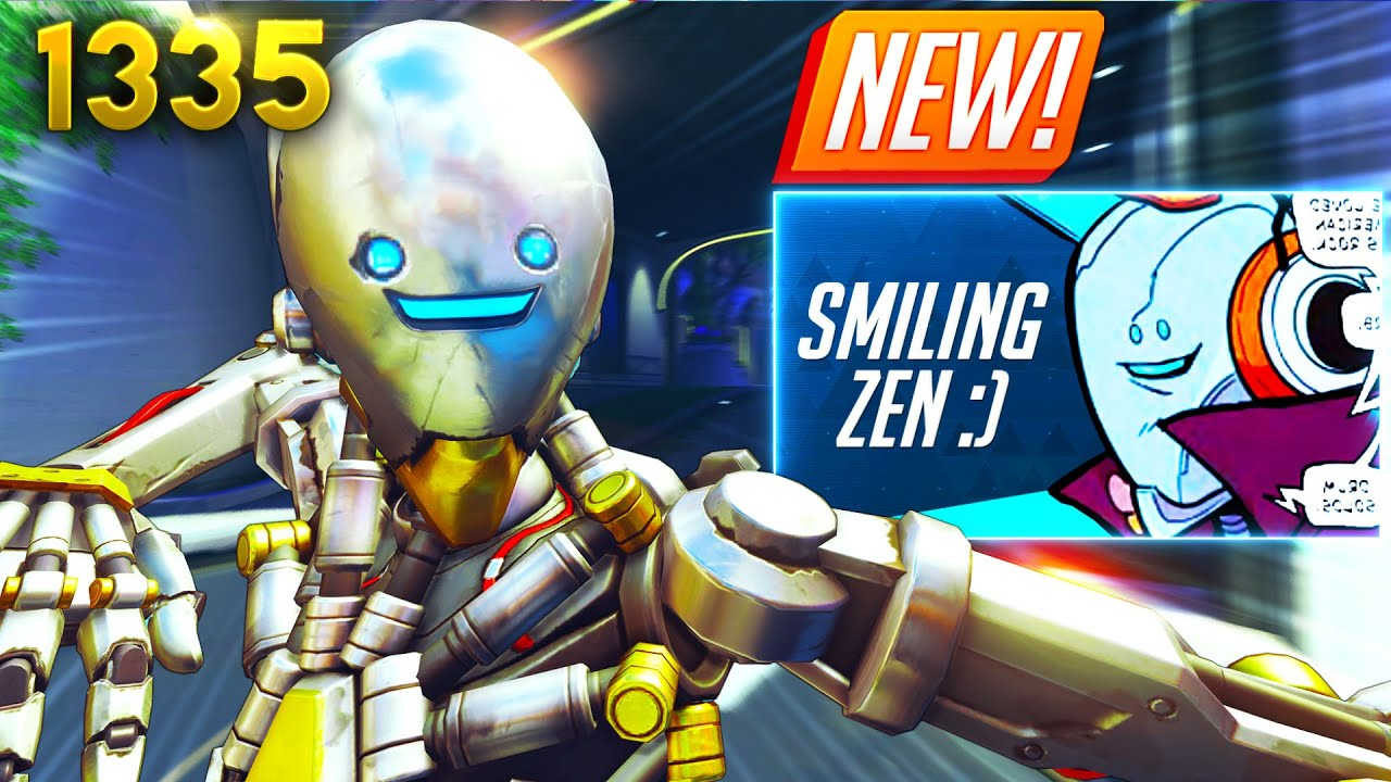 A *NEVER SEEN* SMILING Zen SKIN!? | Overwatch Daily Moments Ep.1335 (Funny and Random Moments)
