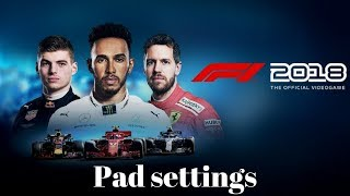 F1 2018 The Game Pad Settings