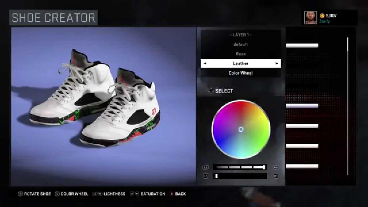 2623775421a1 NBA 2K16 Shoe Creator - Air Jordan 5
