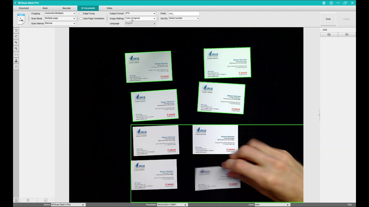 Iriscan Desk 5 How To Scan Business Cards Youtube