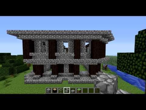 Minecraft casa medieval 3 doovi for Como hacer una casa clasica en minecraft