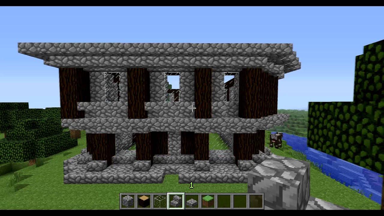 Dezcraft como construir una casa medieval 1 minecraft - Como construir una casa ...